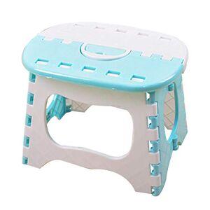 EFNJL Plegable Taburete de Paso pequeño Portable plástico Taburete del pie Uso en la Cocina, baño y Dormitorio para niños y Adultos,Blue