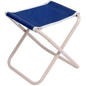 WYJW Silla de Camping Plegable portátil Taburete Plegable Asiento Oxford al Aire Libre para Pesca Senderismo Viaje Jardín BBQ (Color: Azul Marino + Beige, tamaño: 25.5 * 23.5 * 25cm)
