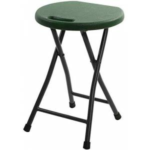 WYJW Taburete Plegable de plástico para el hogar Sillas Plegables portátiles al Aire Libre, 46 * 33 cm (Color: Verde Oscuro)