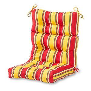Greendale Home Fashions Cojín para Silla con Respaldar Alto para Interiores/Exteriores, Carnival Stripe
