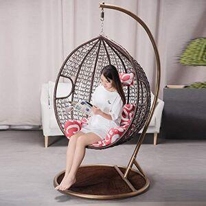 HOIHO Canasta Colgante Egg Nest Swing Chair Balcón Al Aire Libre Hamaca Cuna Silla Asiento De Ocio para Una Persona (Negro/Blanco/Rosa/Marrón) (Color : B)