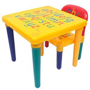 Wakauto 1 Juego de Mesa Y Silla para Niños Juego de Muebles de Mesa de Actividades para Niños con Letras Impresas para Niños Pequeños Kindergarten Educación en El Hogar Tarea