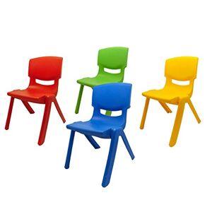 Dimex Kit 4 sillas Infantiles Resistentes de plástico para niños (Paquete de 4) Multicolores