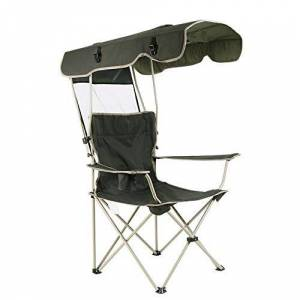 LF-chair Silla para Acampar Al Aire Libre con Toldos Sillas Plegables Ocio Oxford Tela Silla De Playa con Reposabrazos Respaldo Silla Plegable Verde, Puede Soportar Peso 150 Kg