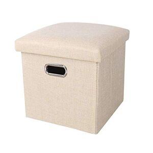 GIAO Taburete de almacenamiento Plegable almacenamiento de las heces, Asiento plegable Cubo de almacenamiento, el resto del pie de heces de almacenaje plegable cajas de almacenamiento de diseño hueco 25x25