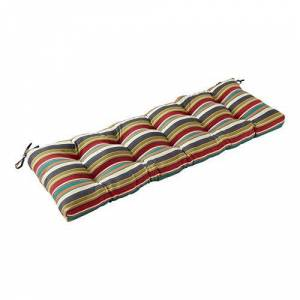 Greendale Home Fashions AZ5812-SUNSET Adobe Stripe Cojín para Banco de Exteriores (129,5 cm)