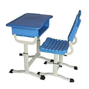 TIN-YAEN Escritorio del estudio teórico Juego de sillas de niños Kid y Juego de sillas de altura ajustable Study Desk Kids School Student Work Station Mesa con cajón de almacenamiento (Color: azul, ta