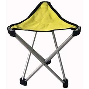 TYTZSM TZSMJT Al Aire Libre portátiles, aleación de Aluminio, Triángulo Taburete, Silla de Pesca, Silla de Barbacoa, Silla Plegable últimos Modelos J5T0D9 (Color : Amarillo)