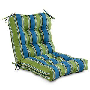 Greendale Home Fashions AZ5815-CAYMAN Belize Stripe Cojín para Asiento o Respaldo para Silla de Exterior, 100,6 x 53,8 cm