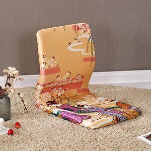 WZF Sillas de juego de silla de tatami, silla japonesa sin patas, silla con respaldo de ventana salediza, cojín de silla perezoso impermeable, silla de piso, sofá, juego de meditación, asientos de piso,