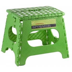 "Greenco 0050D Super Strong Foldable Step Stool for Adults and Kids, 11"", Green"