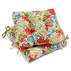 Greendale Home Fashions Cojín para Silla de Exterior (20 Pulgadas), Floral (Garden Floral)