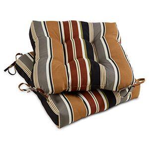 Greendale Home Fashions Cojín para Silla de Exterior (20 Pulgadas), Espresso Stripe