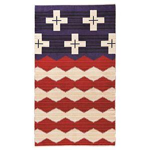 Pendleton Toalla, Toalla de Jacquard de Gran tamaño., Brave Star Rojo, Blanco y Azul, Una Talla, 1