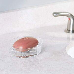 InterDesign Eva Bath, Soap Dish, Clear