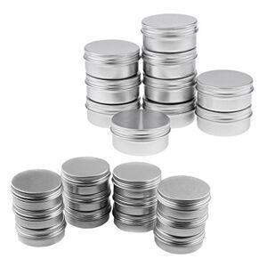 dailymall 22x Lata de Aluminio de Lociones Tarro de Bálsamos Labiales Estuche de Cremas Envase de Cosméticos, 10g / 150g