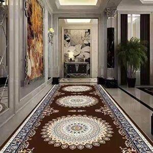 ZZFF Se Puede Recortar Lavandería Personalizada Estilo Europeo Pasillo del Hotel Escalera Alfombra Dormitorio Lleno de Antideslizante Hall Secret Mat-taobao-17 200x100cm (79x39inch)