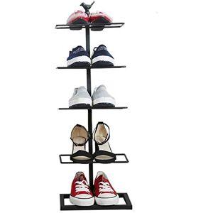 YZjk Zapatero de Hierro Forjado Simple Moderno Multicapa Mini hogar Dormitorio Almacenamiento pequeño gabinete de Zapatos (Tamaño: 93 cm)