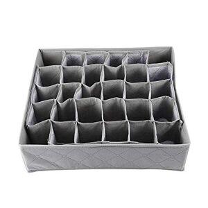 Yosemire 30 Rejilla Ranura de carbón de bambú Ropa Interior Lazos Calcetines del Armario del cajón Organizador Caja de Almacenamiento en Forma para el carbón de bambú Colección de Almacenamiento Bo