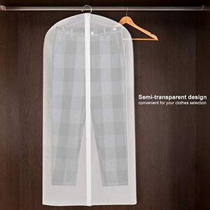 Topzon Cubiertas de Ropa Traje Prueba de Polvo Ropa Plancha Cremallera Cubierta de la Ropa de Almacenamiento Vestido Colgante Protector (60 * 120)