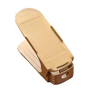 suyi Creative Zapato Rack Ahorro de Espacio Plegable para una Caja de Zapatos de plástico, Beige, Talla única, 1