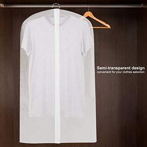 Topzon Cubiertas de Prendas de Vestir Traje a Prueba de Polvo Ropa Plancha Cubierta de la Cremallera de Prendas de Vestir de Almacenamiento de Vestir Que cuelgan del Protector (60 * 100)