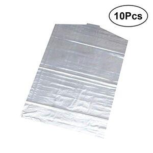 OUNONA Funda de Ropa a Prueba de Polvo Impermeables Transparente de PE para Almacenamiento Proteger Trajes Vestidos Viaje Hogar 10 Piezas 60 x 90cm