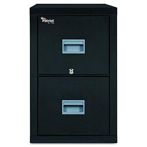FireKing 2P2131CBL Patriot Insulated Two-Drawer Fire File, 20-3/4w x 31-5/8d x 27-3/4h, Black
