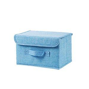 farawamu Caja de Almacenamiento Plegable para Ropa Interior, Calcetines, Caja de Almacenamiento para el hogar, Organizador de clóset, Azul (Sky Blue), Large, 1