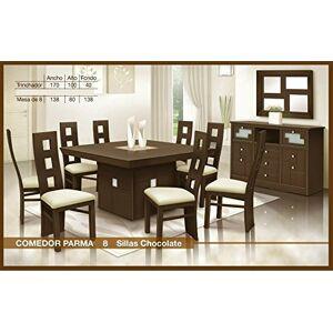 HOME DESIGN Comedor Parma 8 sillas con Buffet
