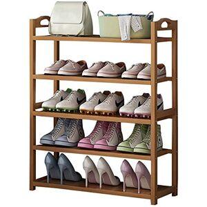 YLCJ Estantes para zapatos Estante de almacenamiento de zapatos de madera sólida de 5 niveles con cajones Organizador de zapatos para pasillo Sala de estar Dormitorio (Color: 5 niveles, Tamaño: 70 cm)