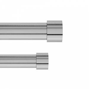 umbra Cappa Double Curtain Rod Set for Window Drapery Extends from 36 to 66 Inches and Includes 2 Adjustable Curtain Rods, Matching Finials, Brackets Hardware, Nickel, 67.63 x 5.5 x 2.88