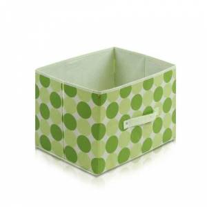 Furinno Laci 11144GR Non-Woven Fabric Soft Storage Organizer, Dot Design, Green