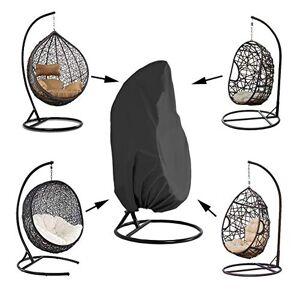 Kasla Cubierta de la silla del patio que cuelga, Cubiertas de silla de oscilación de huevo de mimbre a prueba de agua, Protector resistente de los muebles del mirador resistente al polvo del viento (Tela 420D Oxford)