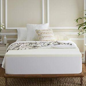 Sleep Innovations Cubrecolchón de Espuma viscoelástica de 5.08 cm, Blanco, Individual, 1