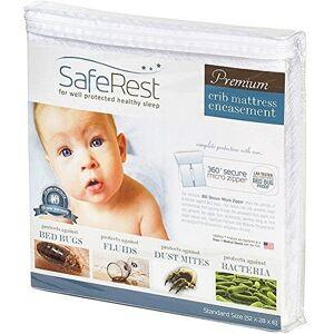 Safe Rest Premium hipoalergénico Impermeable Certificado para Cama a Prueba de Insectos  Vinilo última intervensión de PVC y ftalatos  132 x 28 x 6 Pulgadas