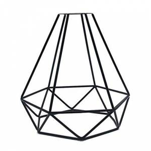 UOTO Vintage Lamp Shade Light Cage Geometric Pendant Metal Lamp Guard Retro Ceiling Light Shade Iron Cage Creative DIY Crafts