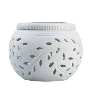 XuBa Solar Powered Ceramic Led Garden Lights, Rechargeable Solar Table Lights(White+Color Light)