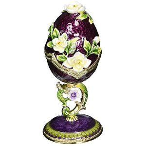 Design Toscano FH24092 colección de Ramo de Primavera Estilo Fabergé, Huevo esmaltado, Color: Lavanda, Salvia púrpura, Color Completo, 1