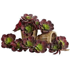 Nearly Natural 6106-BG-S12 Echeveria Succulent Plant, 5-Inch, Burgundy, Set of 12