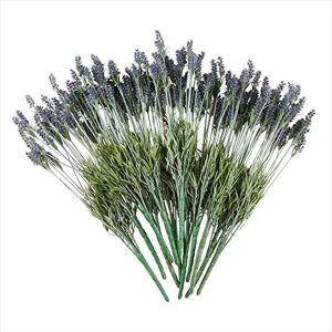 SARO LIFESTYLE Florals Collection Tallos de Lavanda (Juego de 12) 23.6 Pulgadas, Color Morado