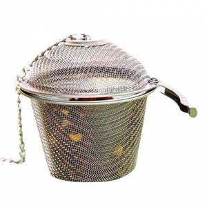 OQLPO Sabor Sopa de Acero Inoxidable de la Especia Caja de la Cesta de salmuera Caliente Pot escoria Separación Colador Coladores de Herramientas de Cocina (Color : M)