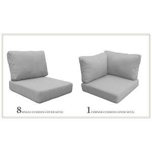 TK Classics Cojines-MIAMI-11a-GREY Cojines Muebles de Patio, Color Gris