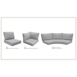 TK Classics Cojines para Muebles de Patio, Color Gris
