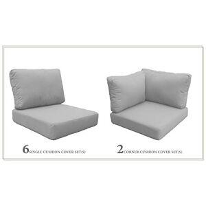 TK Classics Cojines-MIAMI-09c-GREY Cojines para Muebles de Patio, Color Gris