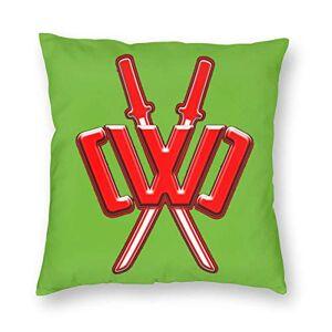 """Unknown Chad-Wild-Clay CWC Fundas de Almohada Decorativas de Doble Cara con impresión Suave para Sala de Estar, sofá, Cama, decoración del hogar, Blanco, 22"""" x22"""