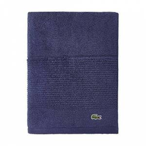 "Lacoste Legend Towel, 100% Supima Cotton Loops, 650 GSM, 30""x54"" Bath, Navy"
