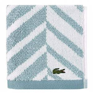 "Lacoste Paño de Lavado 100% algodón, Azul (Celestial Blue), 13"" W x 13"" L, 1"