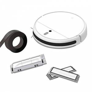 Xiaomi Mi Robot Vacuum Mop-Barrier Tape Café- Brush Cover Plata-Vacuum Filter Blanco