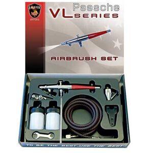 Paasche Airbrush VL-SET Set de aerógrafo de doble acción con alimentación por sifón
